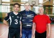 капитаны команд финалистов и судья Федерации волейбола РТ Владимир Талантов
