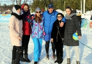 Волейбол на снегу