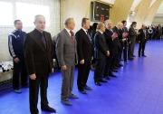 почетные гости на торжественной церемонии открытия спорткомплекса