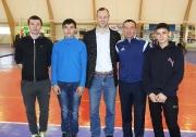 юные волейболисты ДЮСШ на торжественной церемонии открытия спорткомплекса