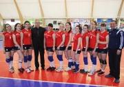 юные волейболистки ДЮСШ на торжественной церемонии открытия спорткомплекса