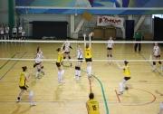 момент игры команд Вологодской области и Республики Татарстан 3:0