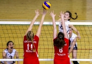 момент игры команд Республики Татарстан и Московской области 3:0