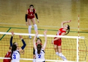 момент финальной игры между командами Свердловской области и Москвы 3:1