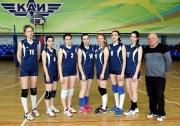 женская команда КНИТУ- КАИ ( тренер Равиль Галяутдинов)