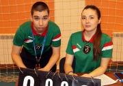 судьи Федерации волейбола РТ Владислав Соколов и Динара Кашипова