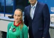 исполнительный  директор  Федерации волейбола РТ Мансур Каримов и судья-секретарь ФВРТ  Евгения Ульянина