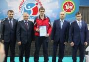 церемония награждения победителей и призеров Турнира по волейболу  на Кубок Грайфера В.И.