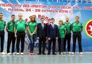 бригада судей Федерации волейбола Республики Татарстан, обслуживавшая игры Турнира на Кубок Грайфера В.И.